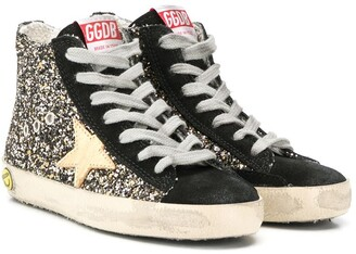 Golden Goose Kids glittered high top trainers