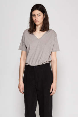Hope V Melange Cotton Tee