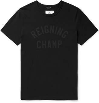 Reigning Champ Logo-Print Cotton-Jersey T-Shirt - Men - Black
