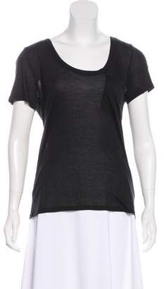 Club Monaco Short Sleeve Scoop Neck Top