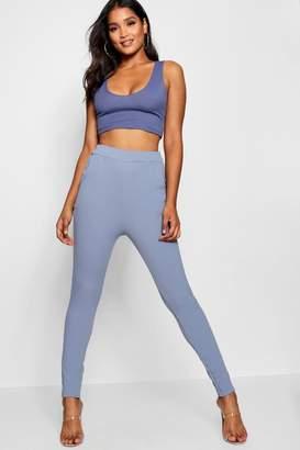boohoo Abi Crepe Tonal Super Skinny Pocket Trousers