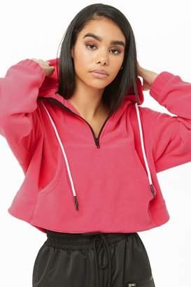 Forever 21 Fleece Half-Zip Pullover