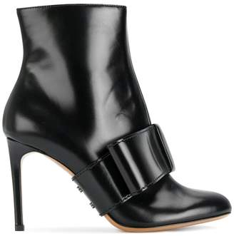 Valentino half bow ankle boots