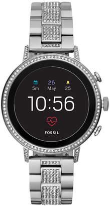 Fossil Q Women's Venture Hr Stainless Steel Bracelet Touchscreen Smart Watch 40mm