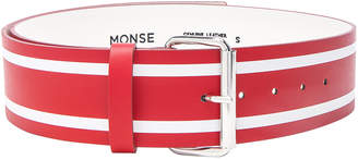 Monse Racing Stripe Print Belt