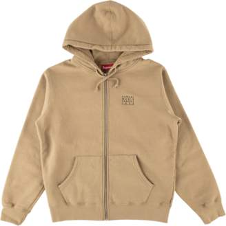 Supreme World Famous Zip Up Hooded Swe - 'SS 18' - Light Brown