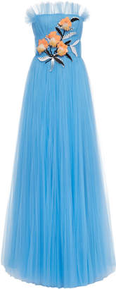 Carolina Herrera Strapless Embellished Gown