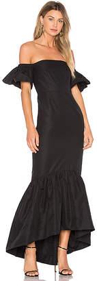 Jill Stuart Ruffle Off the Shoulder Maxi Dress
