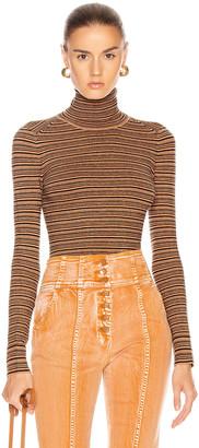 JoosTricot Long Sleeve Turtleneck Sweater in Cinnamon & Coal | FWRD