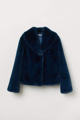 H&M Faux Fur Jacket - Blue