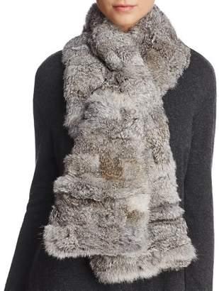 Surell Pieced Rabbit Fur Scarf