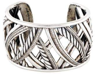 David Yurman Diamond Papyrus Wide Cuff