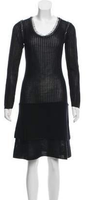 Philosophy di Alberta Ferretti Wool Midi Sweater Dress