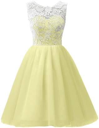 CaliaDress Women Short Bridesmaid Homecoming Flower Girl Dress C016WD US6