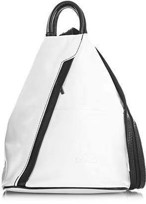 LiaTalia Vera Pelle Made In Italy LiaTalia Womens Soft Italian Genuine Leather Convertible Strap Small Backpack Bag with a Protective Storage Bag - Alex