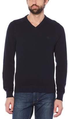 Original Penguin Honeycomb Pique V-Neck Sweater