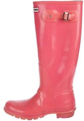 Hunter Rubber Rain Boots Pink Rubber Rain Boots