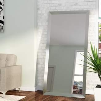 Wade Logan Rectangle Nickel Wall Mirror