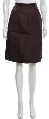 Prada Textured Knee-Length Skirt