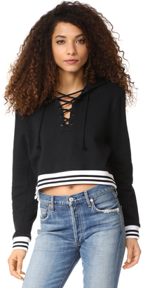 Hudson Long Sleeve Cropped Hoodie $165 thestylecure.com