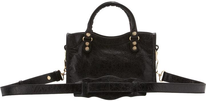 Balenciaga Giant 12 Golden City Mini Bag, Black