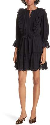 Rebecca Taylor Satin Stripe Dress