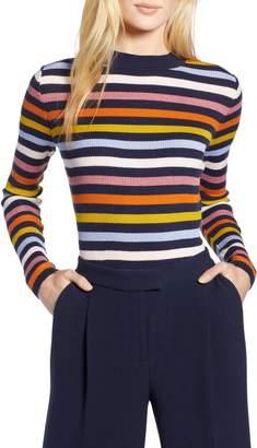 Halogen x Atlantic-Pacific Shimmer Stripe Sweater