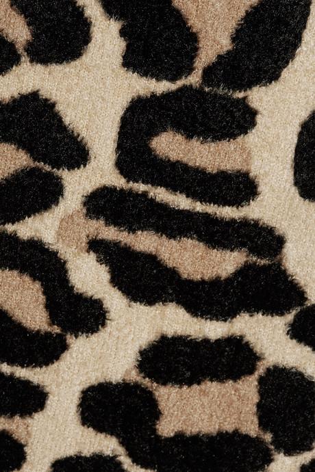 Oscar de la Renta Textured leopard-jacquard coat