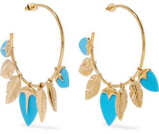 Talitha Gold-plated Turquoise Hoop Earrings