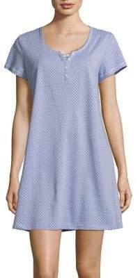 Karen Neuburger Short Sleeve Printed Nightgown
