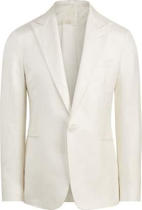 Ralph Lauren Houndstooth Silk Tuxedo Jacket