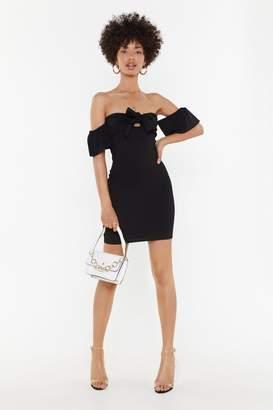 Nasty Gal Womens Don'T Stop The Party Off-The-Shoulder Mini Dress - Black - 10