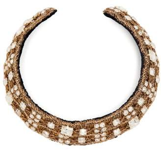 Rebecca De Ravenel Carmen Crystal Embellished Collar - Womens - Crystal