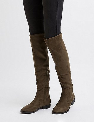 Drawstring Flat Over-The-Knee Boots $42.99 thestylecure.com