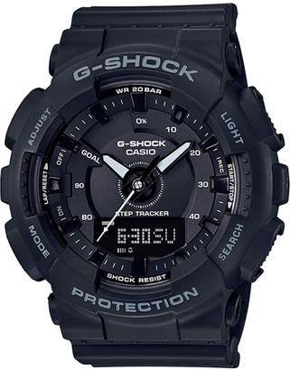G-Shock Women Analog-Digtal Black Resin Strap Step Tracker Watch 50mm