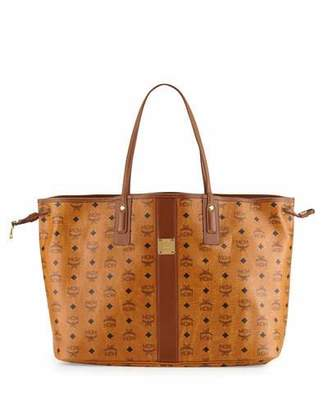 MCM Liz Reversible Large Visetos Tote Bag $665 thestylecure.com