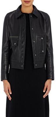 Helmut Lang Women's Lambskin Jacket-BLACK $1,595 thestylecure.com