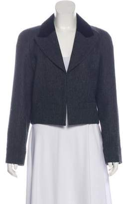 Chanel Wool Herringbone Blazer