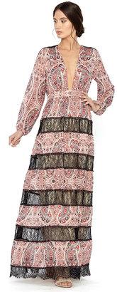 Daren V-Neck Stripe Paneled Maxi Dress $495 thestylecure.com