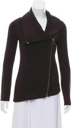Helmut Lang HELMUT Cowl-Turtleneck Knit Jacket