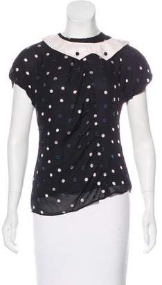 Marc by Marc Jacobs Silk Polka Dot Top
