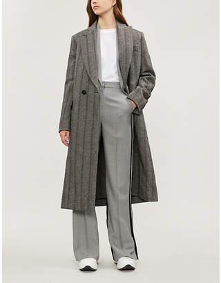 Stella McCartney Katherine herringbone wool-blend coat