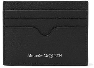 Alexander McQueen Pebble-Grain Leather Cardholder