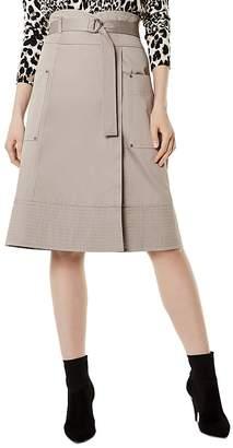 Karen Millen Belted Faux-Wrap Skirt