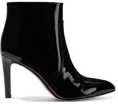 Sam Edelman - Olette Patent-leather Ankle Boots - Black