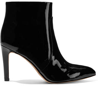 Sam Edelman Olette Patent-leather Ankle Boots - Black