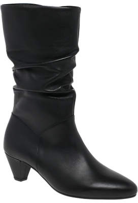 Gabor Robin Gathered Detail Cone Heel Calf Boots