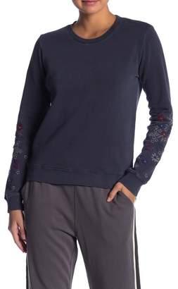 Lucky Brand Embroidered Flowers Sweatshirt