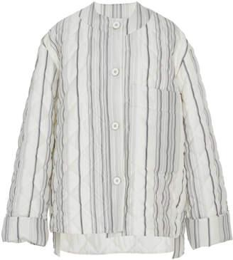 Jil Sander Golf Quilted Stripe Jacket