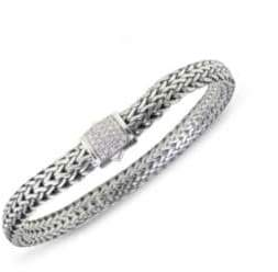 John Hardy Classic Chain Diamond& Sterling Silver Small Bracelet